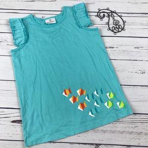 Hanna Andersson Girls 6-8 Fish Flutter Shirt